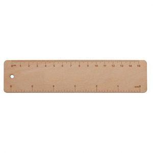 Lineal aus Holz 15 cm - Simler