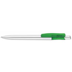 Kunststoff-Kugelschreiber - Tibi silver